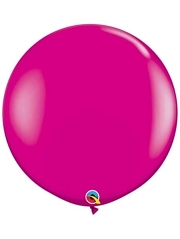 "Qualatex 36"" Wild Berry Latex Balloons"