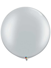 """Qualatex 30"""" Silver Latex Balloon"""