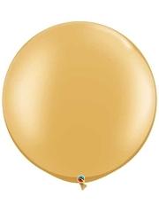 "Qualatex 30"" Gold Latex Balloon"