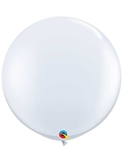 "Qualatex 36"" White Latex Balloons"