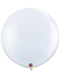 "Qualatex 36"" White Latex Balloons"