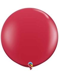 "Qualatex 36"" Ruby Red Latex Balloons"