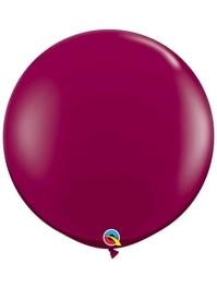 "Qualatex 36"" Sparkling Burgundy Latex Balloons"