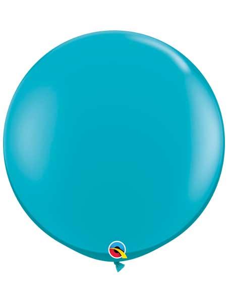 36 tropical teal latex balloons 2ct bag q43514 mf52133