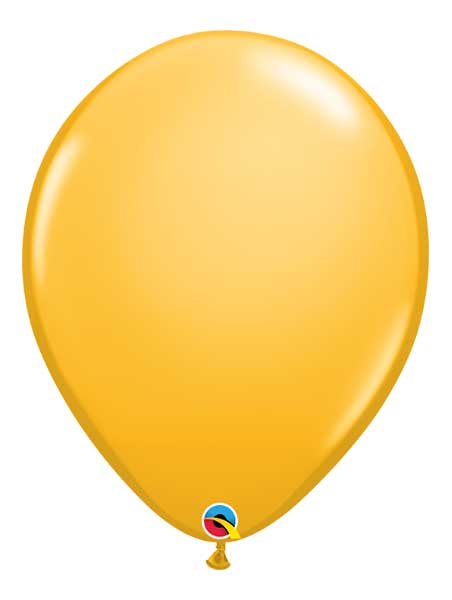 "Qualatex 16"" Goldenrod Latex Balloons"
