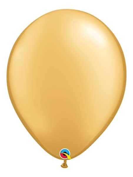 "Qualatex 16"" Metallic Gold Latex Balloons"