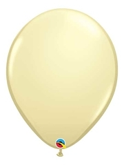"Qualatex 16"" Ivory Silk Latex Balloons"
