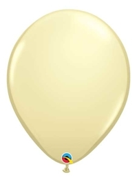 "Qualatex 16"" Ivory Silk Latex Balloons"