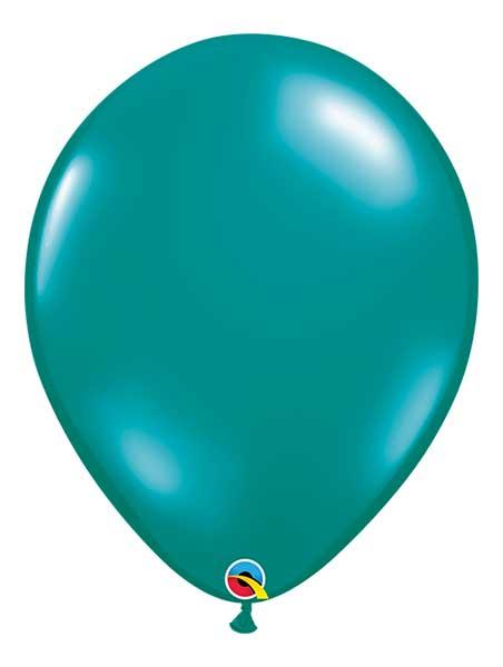 "Qualatex 16"" Jewel Teal Latex Balloons"
