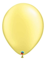 "Qualatex 16"" Pearl Lemon Chiffon Latex Balloons"