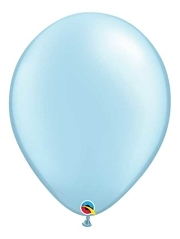 "Qualatex 16"" Pearl Light Blue Latex Balloons"