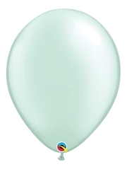 "Qualatex 16"" Pearl Mint Green Latex Balloons"