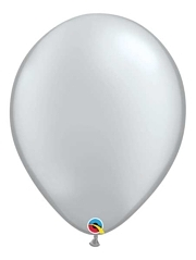 "Qualatex 16"" Metallic Silver Latex Balloons"