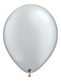 "Qualatex 16"" Metallic Silver Latex Balloons"