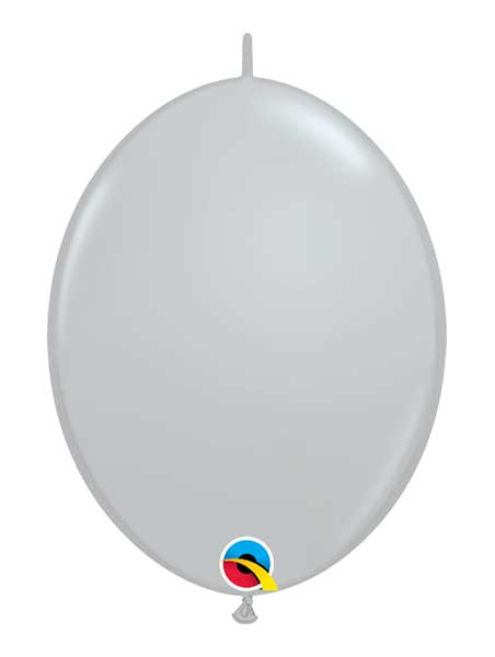 "Qualatex 12"" Gray Quick Link Balloons"