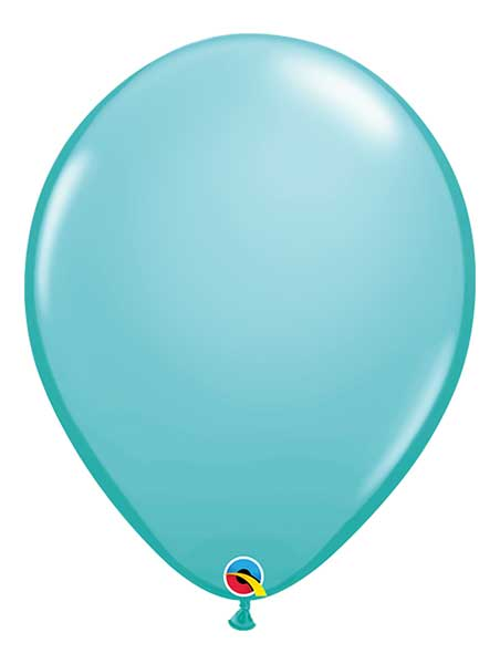 "Qualatex 16"" Caribbean Blue Latex Balloons"