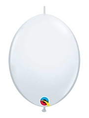 "Qualatex 12"" White Quick Link Balloons"