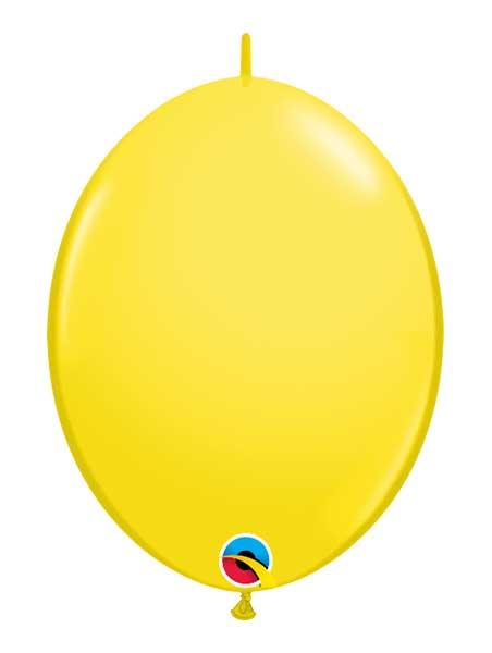 "Qualatex 12"" Yellow Quick Link Balloons"