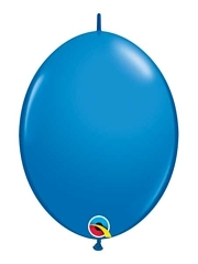 "Qualatex 12"" Dark Blue Quick Link Balloons"