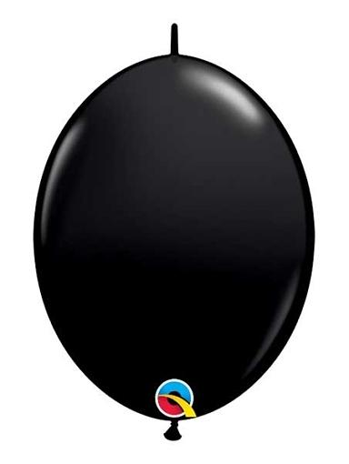 "Qualatex 12"" Onyx Black Quick Link Balloons"