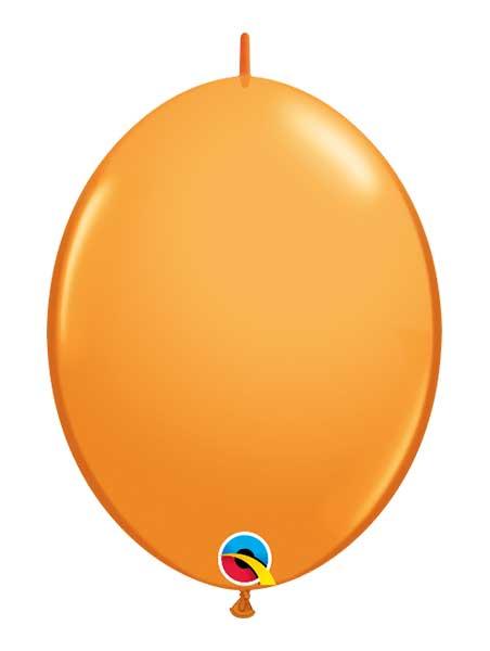 "Qualatex 12"" Orange Quick Link Balloons"