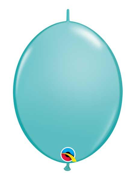 "Qualatex 12"" Caribbean Blue Quick Link Balloons"