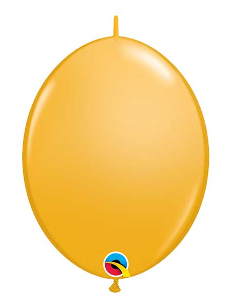 "Qualatex 12"" Goldenrod Quick Link Balloons"