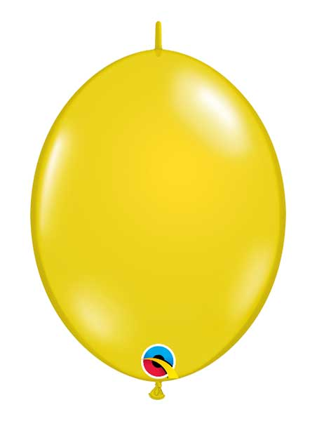 "Qualatex 12"" Citrine Yellow Quick Link Balloons"