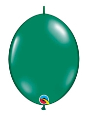 "Qualatex 12"" Emerald Green Quick Link Balloons"