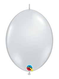 "Qualatex 12"" Diamond Clear Quick Link Balloons"