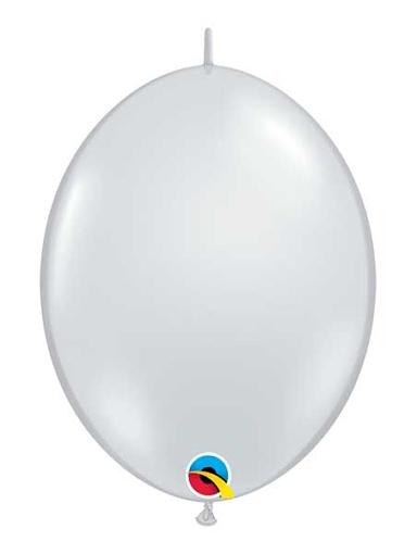 "Qualatex 12"" Diamond Clear Quick Link Balloons"