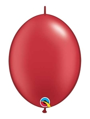 "Qualatex 12"" Pearl Ruby Red Quick Link Balloons"