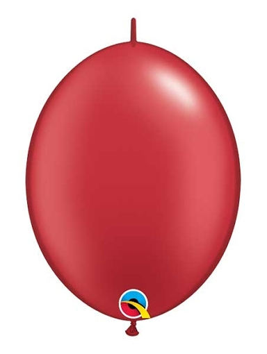 """Qualatex 12"""" Pearl Ruby Red Quick Link Balloons"""