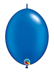 "Qualatex 12"" Pearl Sapphire Blue Quick Link Balloons"