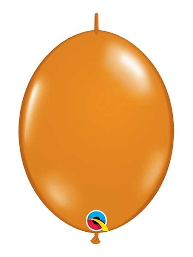 "Qualatex 12"" Mandarin Orange Quick Link Balloons"