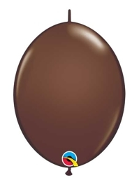 "Qualatex 12"" Chocolate Brown Quick Link Balloons"