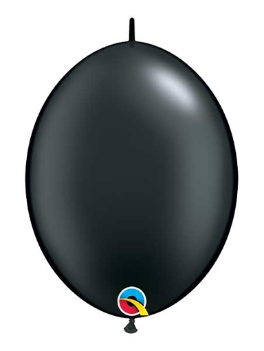 "Qualatex 12"" Pearl Onyx Black Quick Link Balloons"