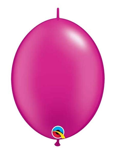 "Qualatex 12"" Pearl Magenta Quick Link Balloons"