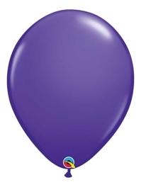 "Qualtex 16"" Purple Violet Latex Balloons"