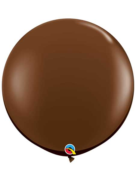 "Qualatex 36"" Chocolate Brown Latex Balloons"