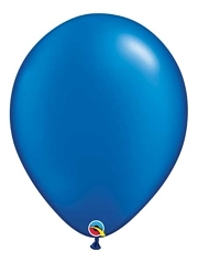 "Qualatex 16"" Pearl Sapphire Blue Latex Balloons"