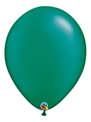 "Qualatex 16"" Pearl Emerald Green Latex Balloons"