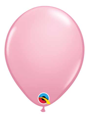 "5"" Pastel Pink Solid Latex Balloons"
