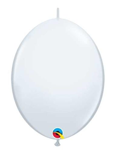 "Qualatex 6"" White Quicklink Balloons"