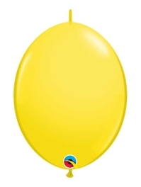 "Qualatex 6"" Yellow Quicklink Balloons"