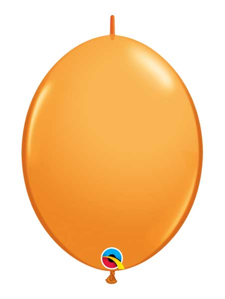 "Qualatex 6"" Orange Quicklink Balloons"