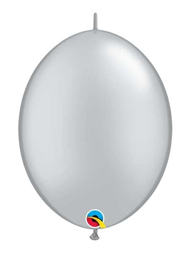 "Qualatex 6"" Silver Quicklink Balloons"