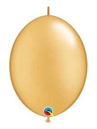 "Qualatex 6"" Gold Quicklink Balloons"