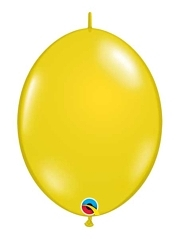 "Qualatex 6"" Citrine Yellow Quicklinks Balloons"
