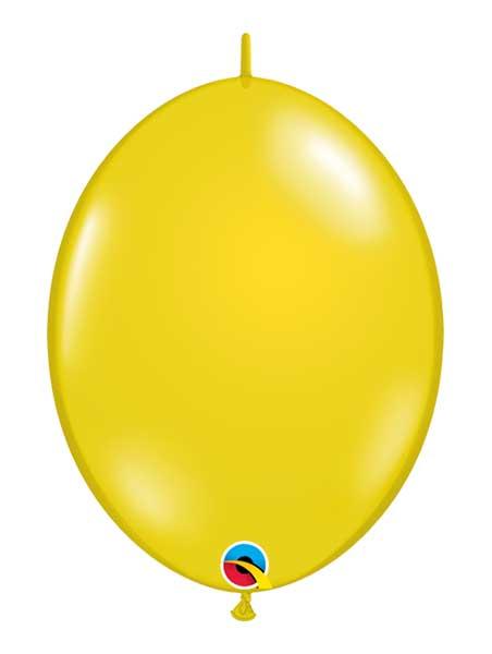 "Qualatex 6"" Citrine Yellow Quicklinks Balloons"